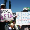 Protesters against CAFTA