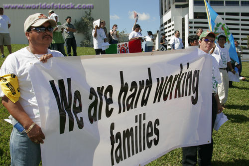 Hard Working Immigrant Families Sign