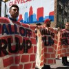 Cleveland protesters against trump wall