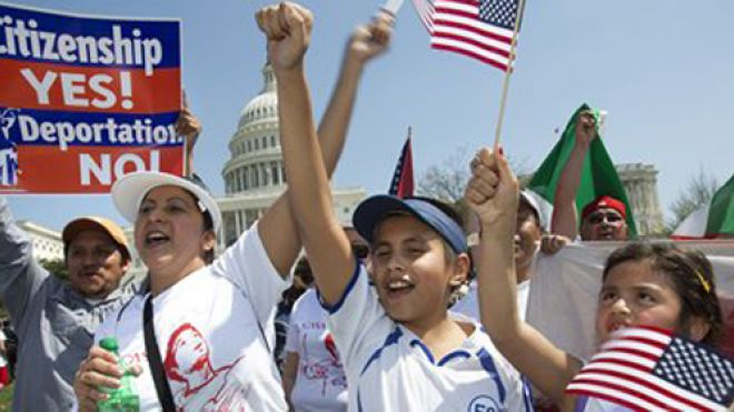 Immigration rally at Capitol Hill