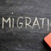 immigration on chalkboard